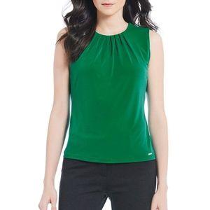 Christmas Green Calvin Klein Sleeveless Blouse